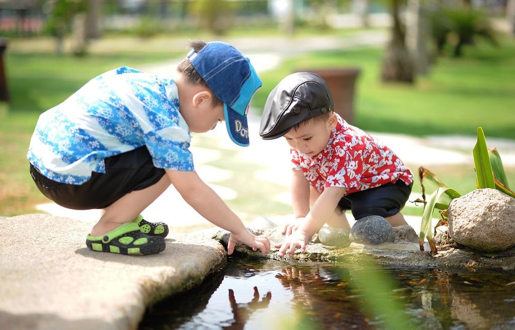children-near-pond