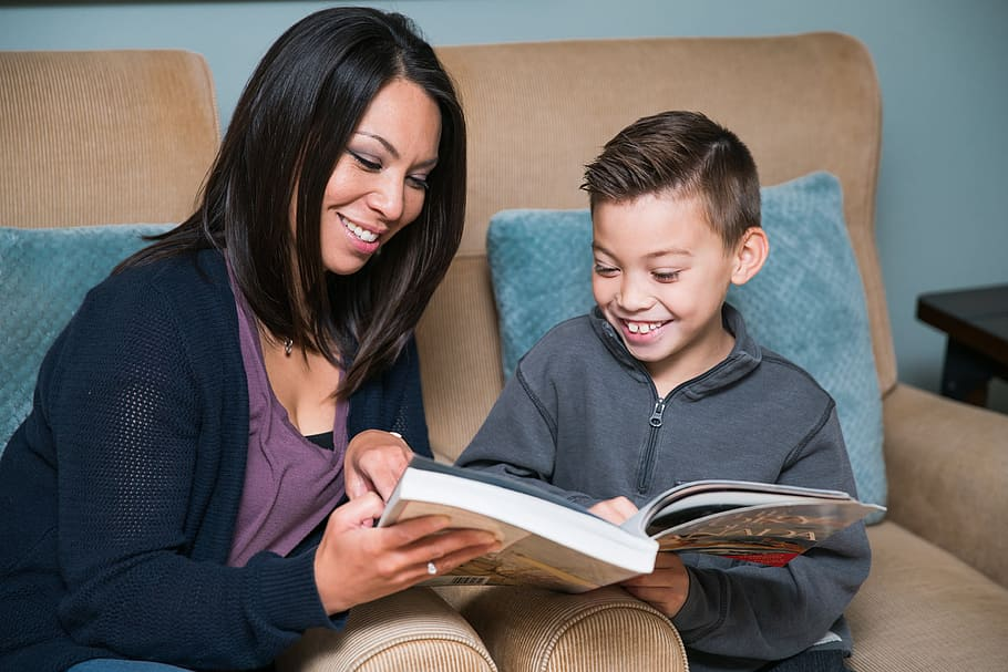 mother-and-son-reading-a-book